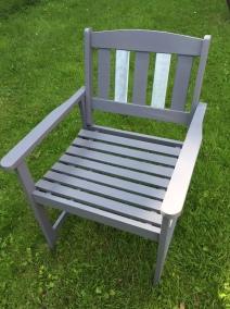 Zinc garden chair