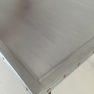 Zinc top coffee table 60x90