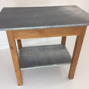 Zinc topped breakfast table